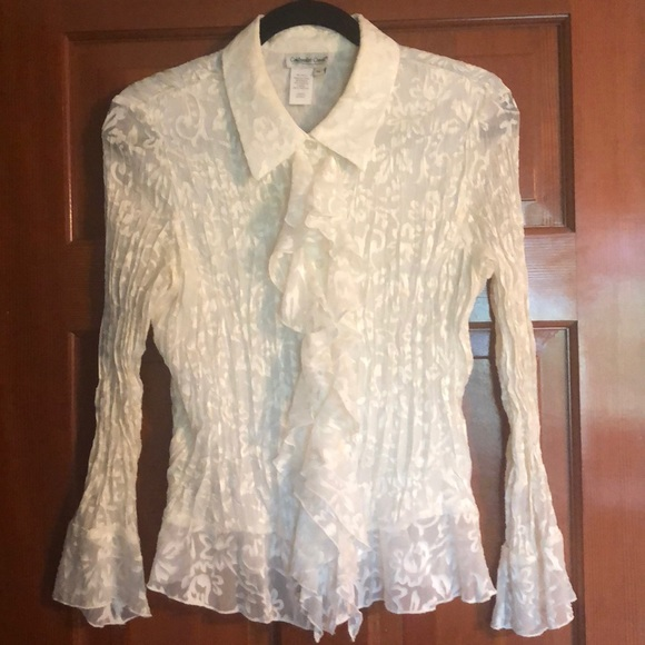 Coldwater Creek Tops - Coldwater Creek flirty ivory blouse.